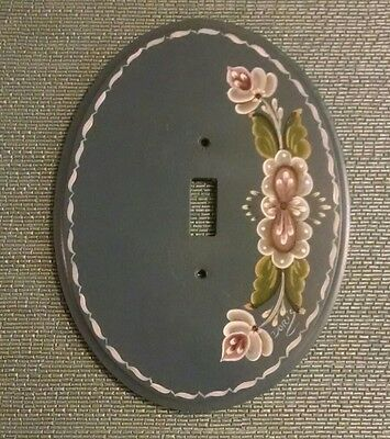 Light switch cover Floral Hand painted wood