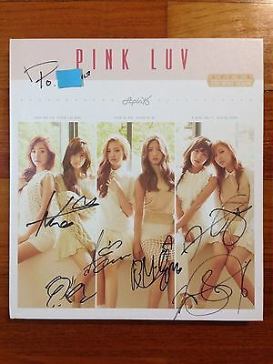 *Comment* APINK autographed PINK LUV PROMO CD signed 5th Mini Album
