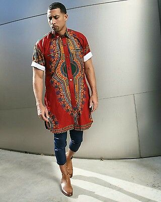 Dashiki Men's Shirt, African clothing, African print, African fabric, Ankara • EUR 56,90