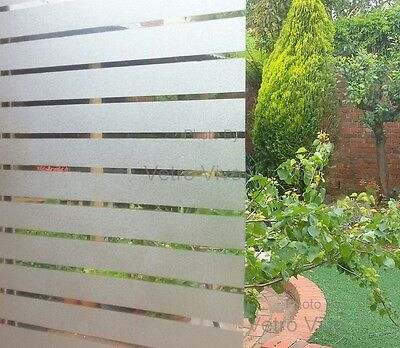 90 CM x 3 M - Frosted Lines Removable Frosted Window Glass Film for privacy