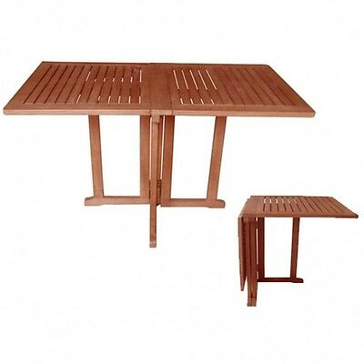 Balcony Table Folding Drop-leaf Garden Angular Wood