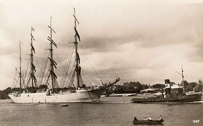 Maggales ?  Sailing Ship Yacht  RP pc Real photo Liverpool