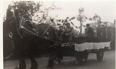 Heavy Horse & cart Float Spilsby unused RP pc