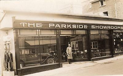Chenhall Parkside Motor Car Motorcycle Showroom Shop front Paignton Nr Torquay