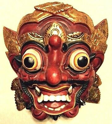 Balinese Barong Mask Red Wall decoration home decor collectors item