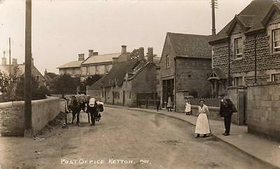 Ketton Post Office Nr Stamford Horse & Cart unused RP old pc