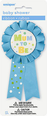 Mum To Be Award Ribbon - Blue Party  Decoration Badge Baby Shower Decoration