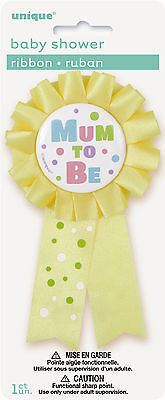 Mum To Be Award Ribbon -Yellow Party  Decoration Badge Baby Shower Decoration