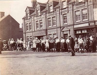 Market Place Rugeley athletics Running event old photo NOT A POSTCARD