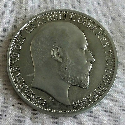 Ireland 1905 Edward Vii Nickel Silver Proof Pattern Crown