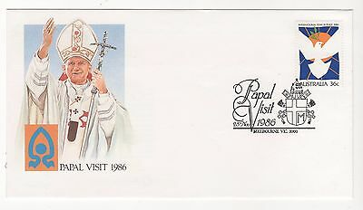 1986 Australia Post Souvenir Cover PAPAL VISIT 1986 Pope John Paul II 28/11/86