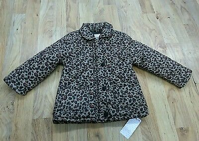 Girls animal print padded coat bnwts 2-3 years  primark
