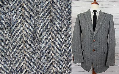 Vintage Multi Tone Herringbone Pastel Stripe Harris Tweed Jacket -42R- CE59