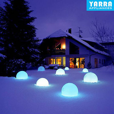 Colorful Waterproof Solar Powered LED Ball Light Outdoor Garden Path Way Lamp