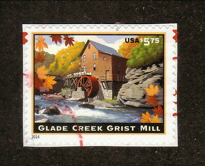 USA--#4927 Used--Glade Creek Grist Mill Priority Mail--2014