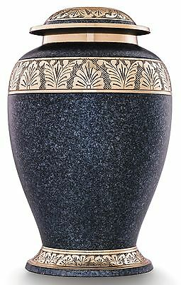 Cremation urns for ashes, Adult funeral memorial remembrance large,Grey and Gold