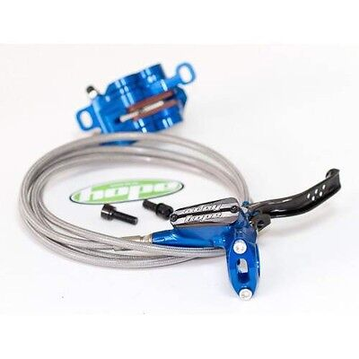 Hope Tech3 E4 Front And Rear Brakes in Blue (Pair )