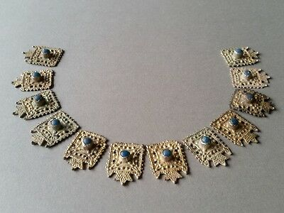 MEDIEVAL & AUTHENTICITY jewelry silver alloy NECKLACE with gilded