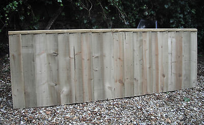Heavy Duty Wooden Fence Panels 6 x 2 Tantalised Pressure Treated Feather Edge