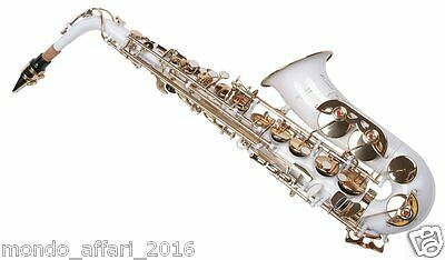 Sassofono Sax Alto Karl Glaser Bianco con Custodia e Accessori TOP QUALITY