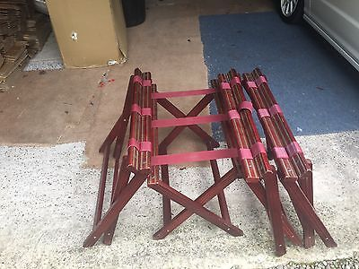 2 Wooden Folding Luggage Suitcase Rack Stands