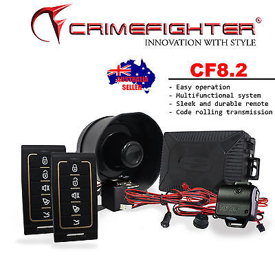 New CRIMEFIGHTER CF-8.2 Keyless Entry One Way Car Alarm System