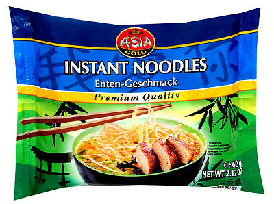 30x 60g = 1,8 Kg Instant Nudeln Ente Asia Gold Nudelsuppen Instant Nudel Suppe