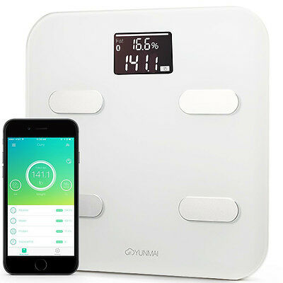 Yunmai Color Smart Body Fat Scale Analyzer Bluetooth4 Free Fitness App Large LCD