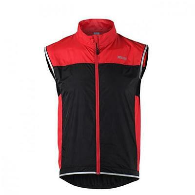 ARSUXEO ciclismo ropa bicicleta deporte Windvest transpirable chaleco sin mangas
