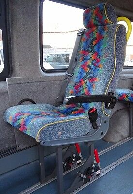 Rescroft Minibus rear seat, for Unwin tracking, S1. OS