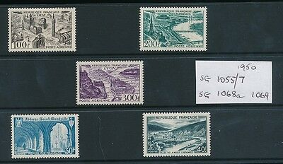 FRANCE 1950 AIRS 5 stamps MINT FINE...cv £80+