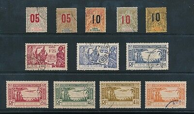 FRENCH IVORY COAST 1912-40 FINE USED 12 stamps cv £60+