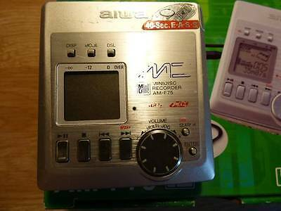 AIWA Personal Minidisc Player Compact Portable Recorder AM-F75 Working Walkman