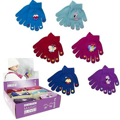 Children Kids Gloves Small Boys Characters Magic Stretchy Winter Warm Thermal