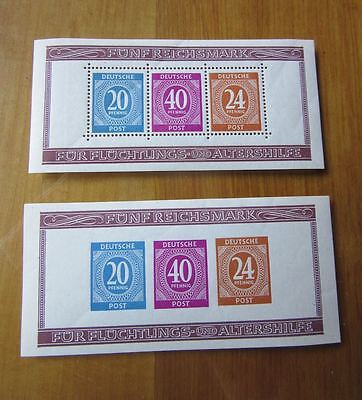 EBS Germany 1946 Allied Occupation Berlin Stamp Show Mi. BLOCK 12A & 12B MNH**