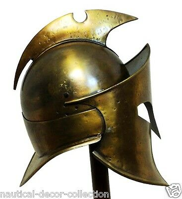 Medieval Greek Spartan Armor Brass Helmet 300 Rise Real Original Empire Helmet