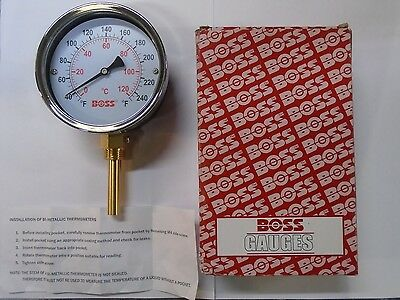 BOSS 428S Temperature Gauge 0-120 Degrees 63mm Vertical Immersion