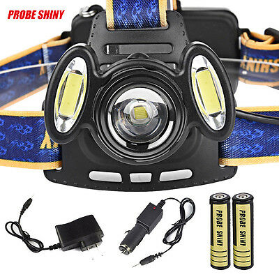 15000LM XML T6 Rechargeable Headlamp HeadLight Torch Lamp USB 18650 Charger lot