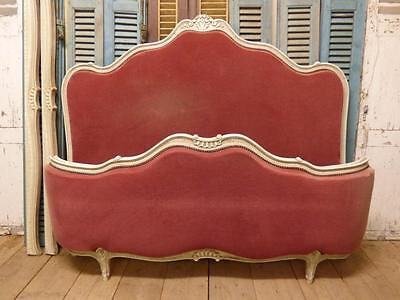 RARE VINTAGE FRENCH KING SIZE BED - GREAT SHAPE - ca07