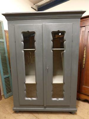OLD FRENCH DISPLAY CABINET - ARMOIRE - CUPBOARD - fd98