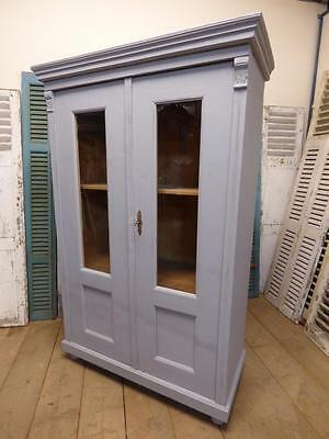 OLD FRENCH DISPLAY CABINET - ARMOIRE - CUPBOARD - fd184