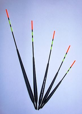 Set of 5 Classic Stillwater Blue/Glo-tip Antenna Coarse Fishing Floats in Tube