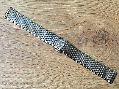 New Mens 18Mm Stainless Steel Watch Strap Bracelet For Longines Watch