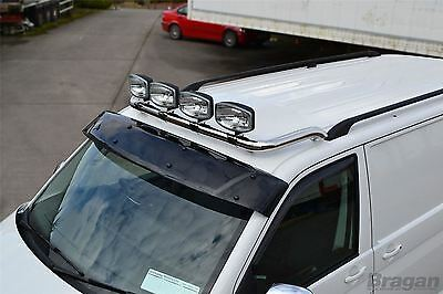 2002 - 2014 Renault Trafic Stainless Steel Front Roof Light Bar + Spots + LEDs