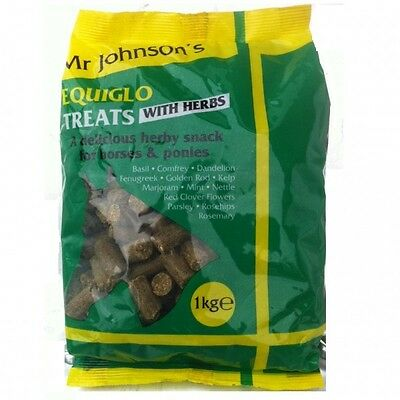 Mr Johnson's Equiglo Horse Treats With Herbs 1kg Supplements