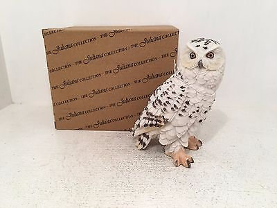 Juliana Natural World Collection Snowy Owl Figurine Ornament BRAND NEW BOXED