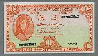 IRELAND 10 Shillings 1968 The Central Bank of Ireland UNC