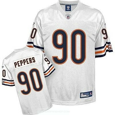 Chicago Bears Julius Peppers Reebok NFL American Football Jersey White M