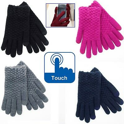 SWM Ladies Super Soft Winter Warm Touch Gloves Womens Girls Outdoor Fashion 03JF