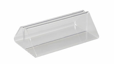 Acrylic Menu Stand with Closed Base - 200mm Wide for A4 A5 DL - 1, 2, 5, 10 Pack